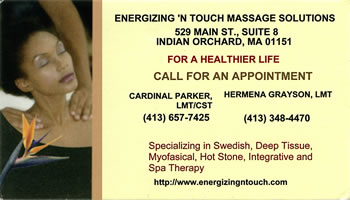 Energizing 'N Touch Massage Solutions
